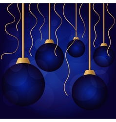 bright color christmas balls vector image