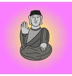 Buddha pop art vector