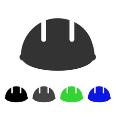 Builder helmet flat icon vector