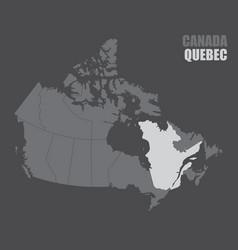 Canada quebec map vector