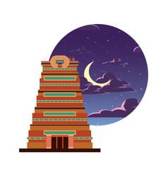 Chennai city monument indian vector