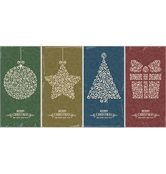 Christmas decor set vector image