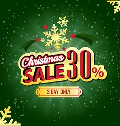 Christmas Sale 30 Percent typographic background vector image