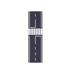 City road with zebra crossing map segment vector