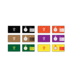 Colorful fast food business card design templates vector