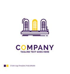 Company name logo design for amplifier analog vector