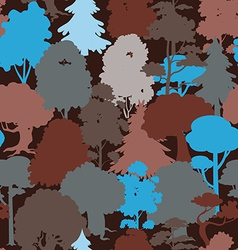 deep forest blue camouflage seamless pattern vector image