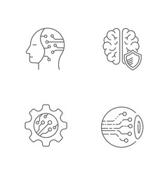 digital technology icons set editable stroke eps vector image