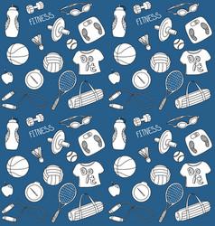 Doodle sport seamless pattern vector