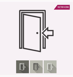Door - icon vector