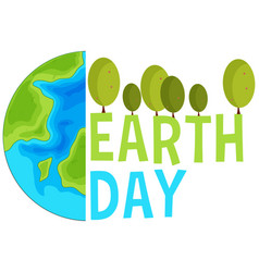 earth day concept scene vector image