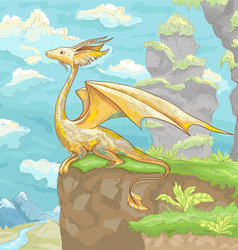Fantastic dragon little vector
