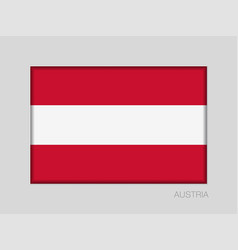 Flag of austria national ensign aspect ratio 2 to vector