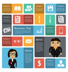 Flat business infographics design elements vector