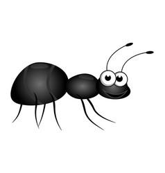 Friendly cute cartoon little ant isolated on a vector
