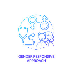 Gender responsive approach concept icon vector