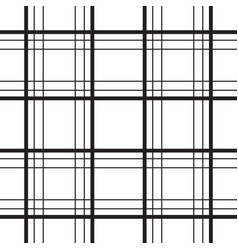 Geometric plaid line black and white minimalistic vector