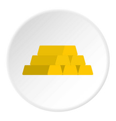 Gold bar icon circle vector