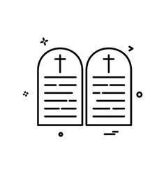 grave icon design vector image
