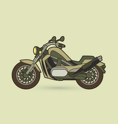 Green motorbike side view graphic vector