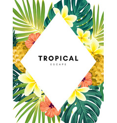 green summer tropical background with exotic vector image