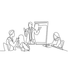 group training and meeting concept one single vector image