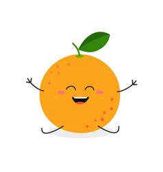 happy cartoon grapefruit vector image