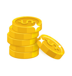 Heap gold coins vector