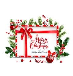 holiday frame decor vector image
