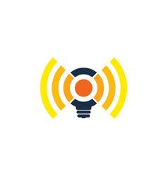 Idea wifi logo icon design vector