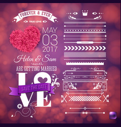 image of we are getting married template vector image