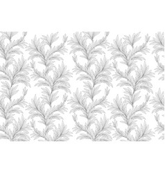 leaves pattern leaf seamless backgound floral vector image