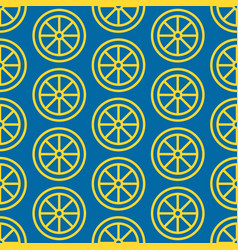 lemon slice seamless pattern background vector image
