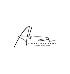 Letter ab signature logo template vector