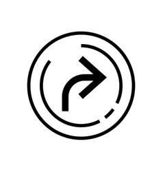 line art forward icon arrow icon vector image