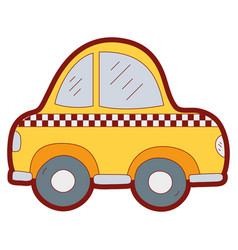 line color taxi car vehicle to transport service vector image