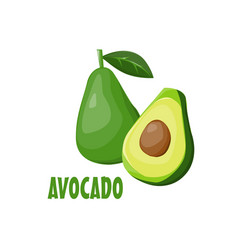 Logo avocado farm design vector