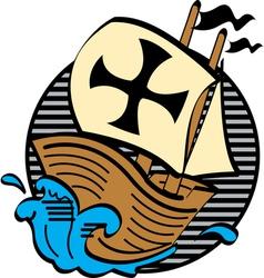 Mayflower boat vector image