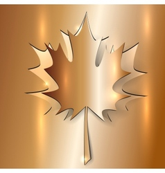 Metallic Autumn Maple Leaf vector