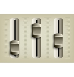 mixing console faders vector image