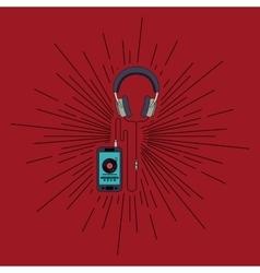 Mobile music design vector