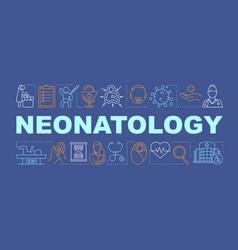 Neonatology word concepts banner vector