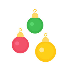 new year decorative toys on christmas round balls vector image