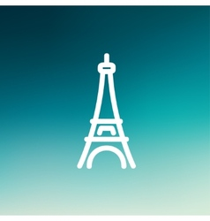 Paris Tower thin line icon vector
