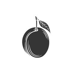 Plum glyph icon vector