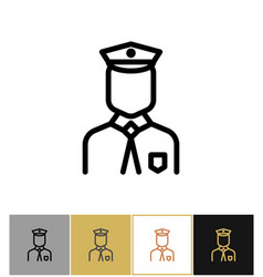policeman icon police uniform man sign or vector image