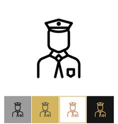 policeman icon police uniform man sign or vector image vector image