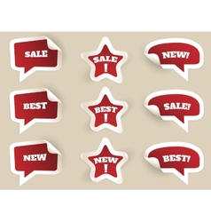 Red Labels New best and sale vector