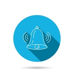 Ringing bell icon Sound handbell sign vector image