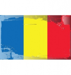 Romania national flag vector image
